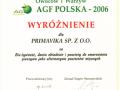 Wyróżnienie Międzynarodowych Targów Owoców i Warzyw 2006