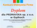 Efektywna Firma 2011″ – nagroda dla marki Primavika za rozwój i efektywną działalność w 2012 roku